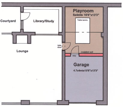 garage conversions plymouth - layout 2